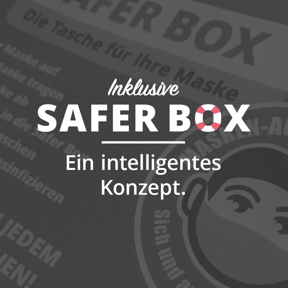 Masken auf - Safer Box