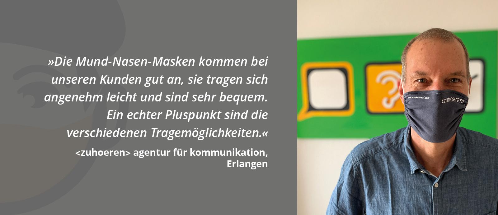 Marciel Riemann empfiehlt Masken-auf