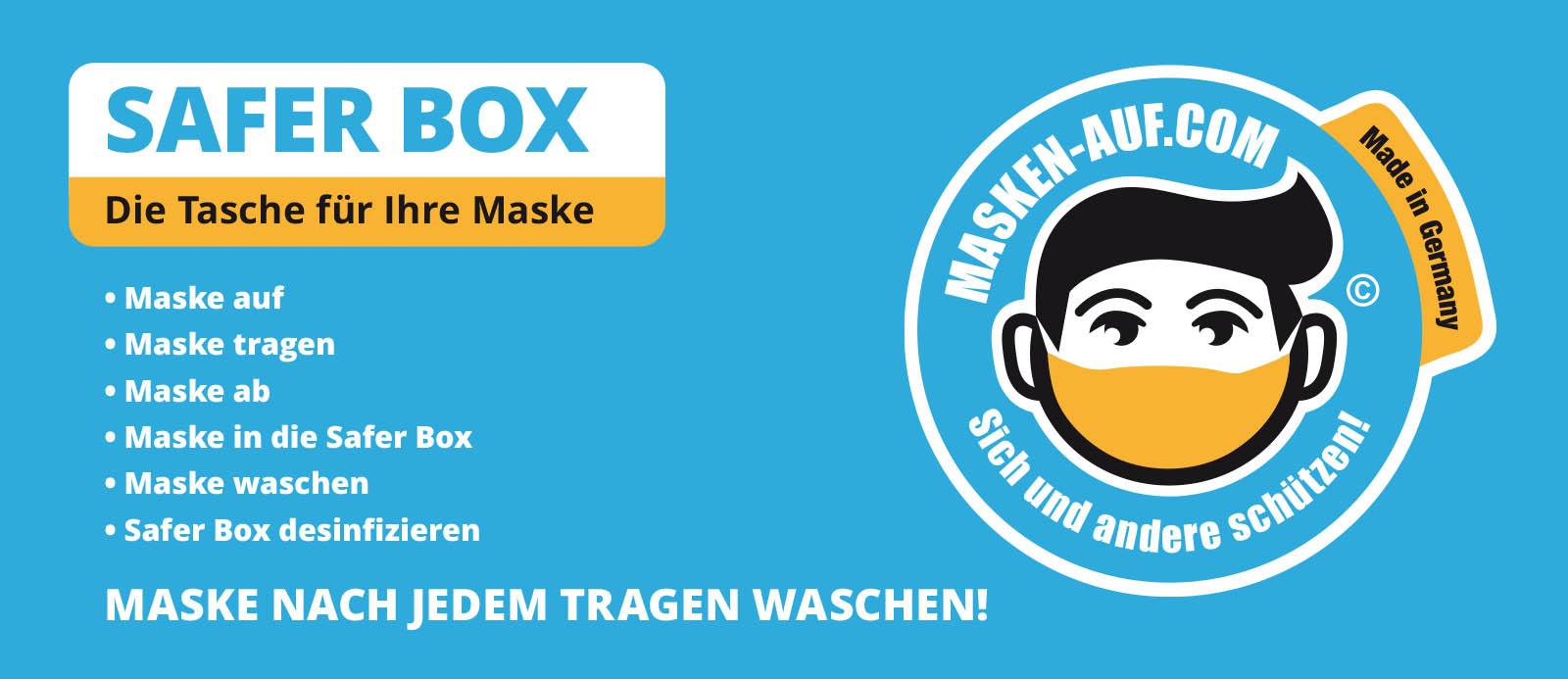 Safer-Box für Masken von masken-auf